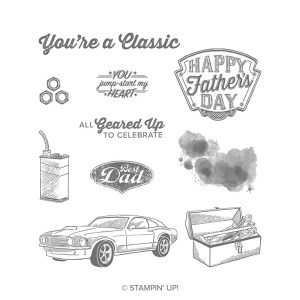 Stampin' Friends Geared Up Garage Card Sample