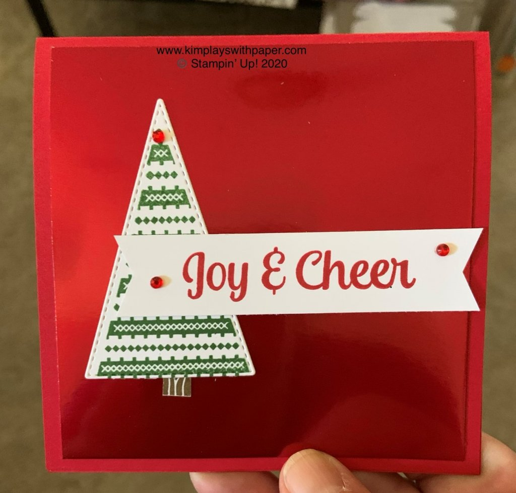 Tree Angle Holiday Card Sample