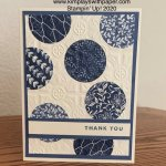 Boho Indigo Scraps and Embossing
