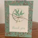 Gilded Autumn Thank You Card