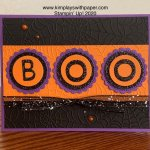 Halloween Boo Card Sample