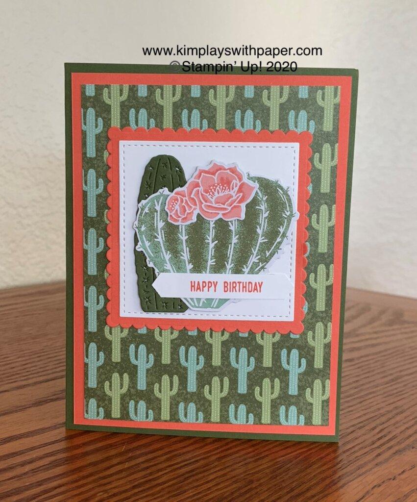 Flowering Cactus Card Samples