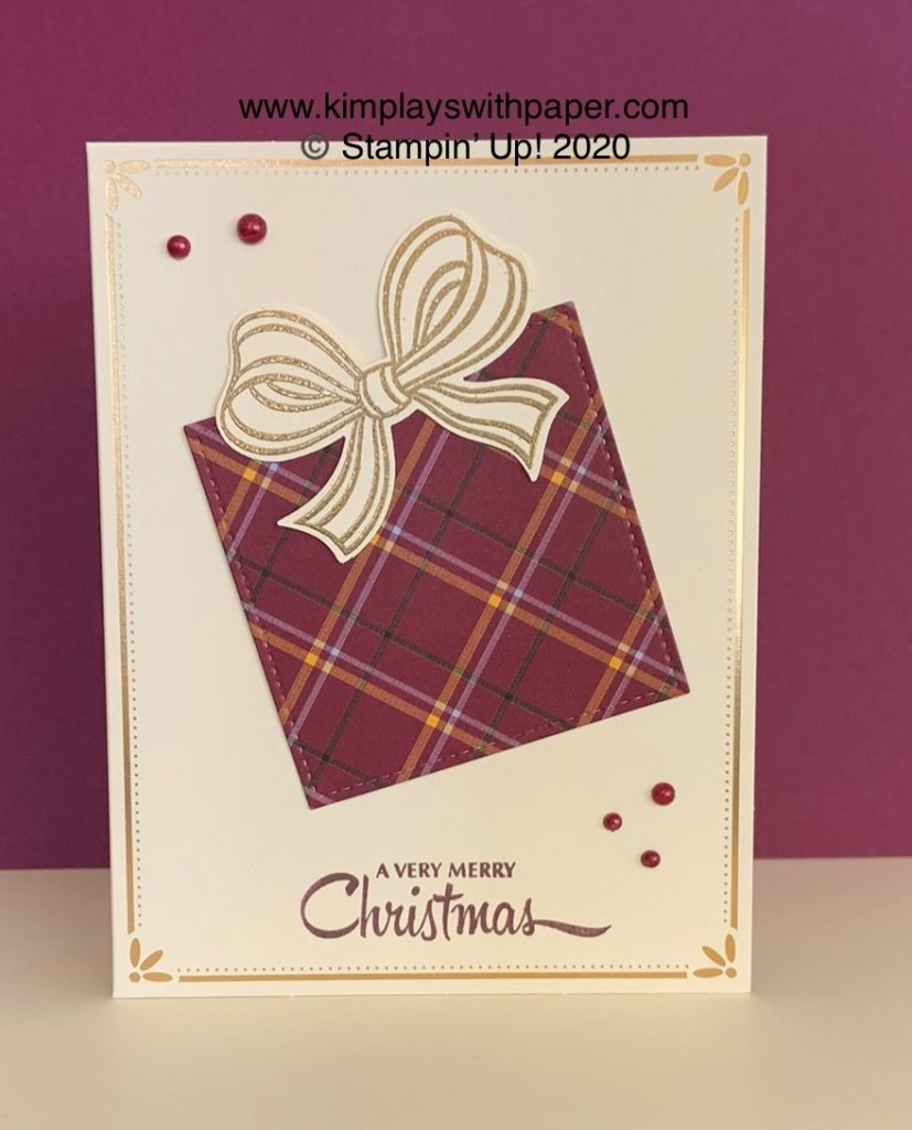 Gift Wrapped Card Tutorial