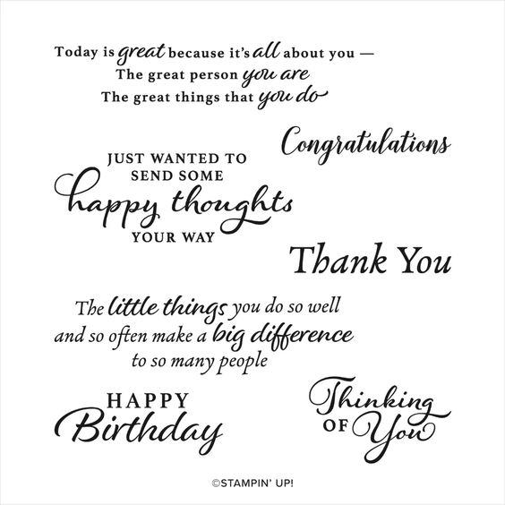 Stampin' Up! Happy Thoughts Stamp Set