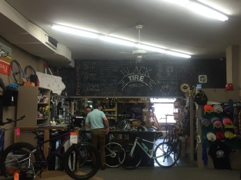black tire bike shop