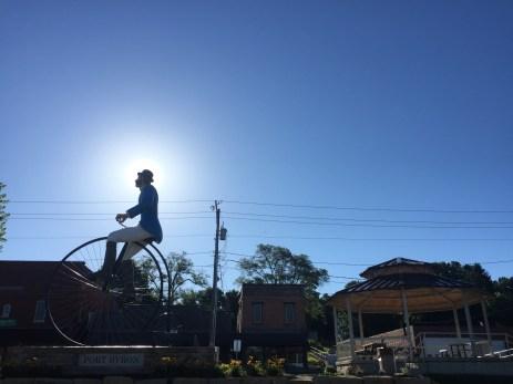 cool bike statue
