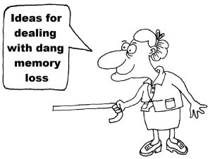 """Feisty old lady, """"ideas for dealing with dang memory loss"""""""