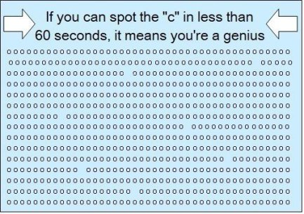 If you can see the c you're a genius