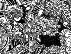 Black and white square