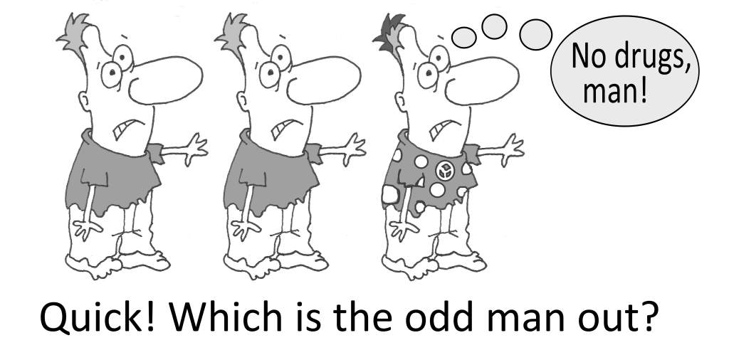 3 cartoon zombies with question