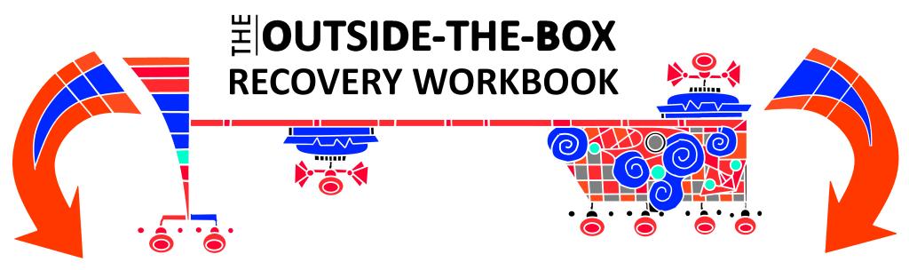 Decorative design featuring OTB Recovery Workbook
