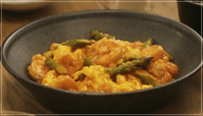 きのう何食べた?12話(最終回)レシピ!アスパラと卵入りのエビチリ