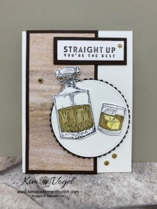Using the Whiskey Business Stampset to make a FUN masculine birthday card