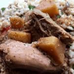 Slow Cooker-Spicy Pineapple Pork Butt Roast