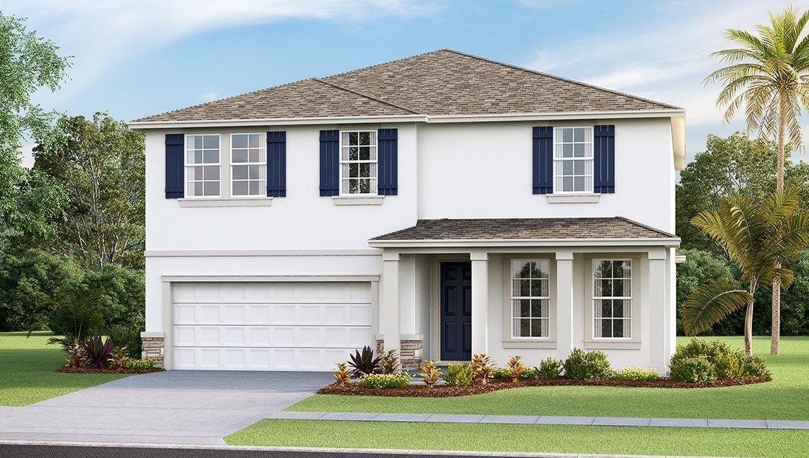 DR Horton Homes | The Hemingway 2,934 square feet 5 bed, 3 bath, 2 car, 2 story  | Brooker Ridge Brandon Florida Real Estate | Brandon Realtor