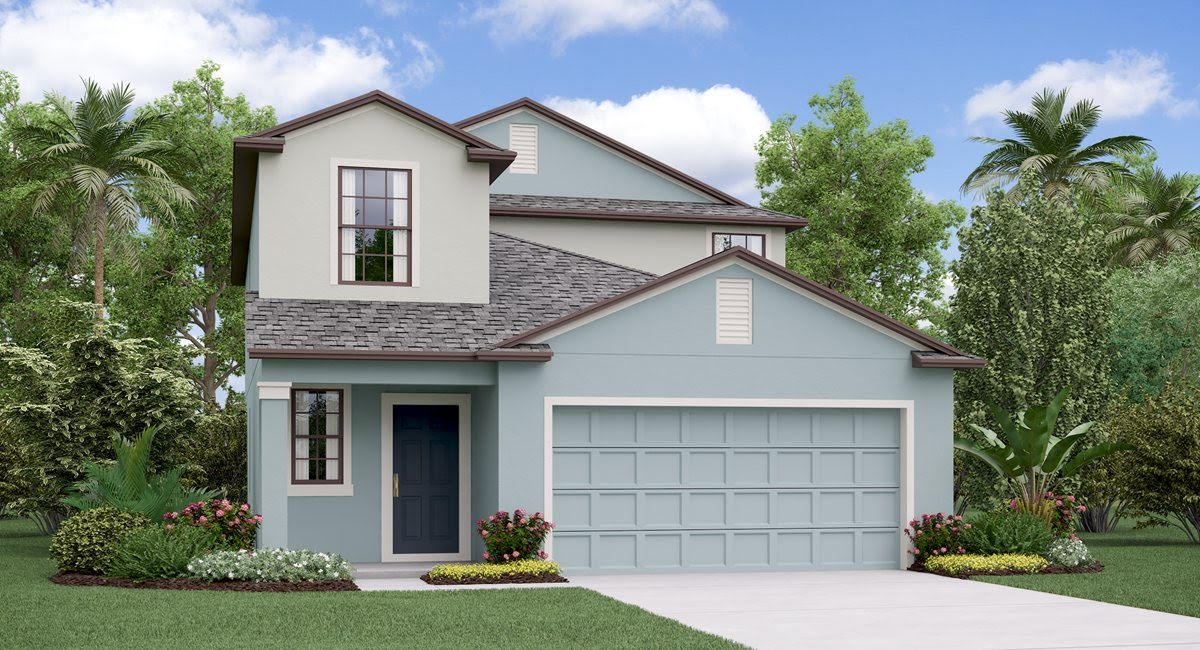 The Columbia Model Tour  Lennar Homes Heron Pass  Ruskin Florida