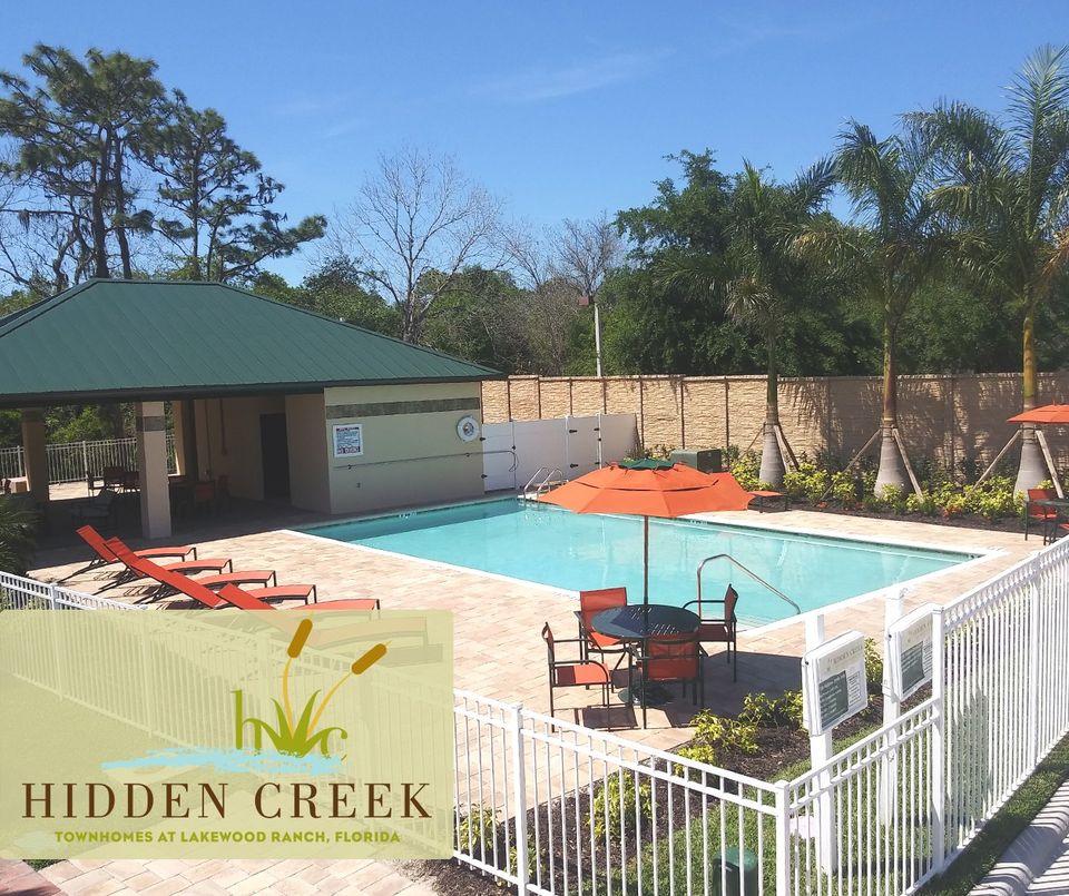 Hidden Creek New Town Home Community Lakewood Ranch Florida