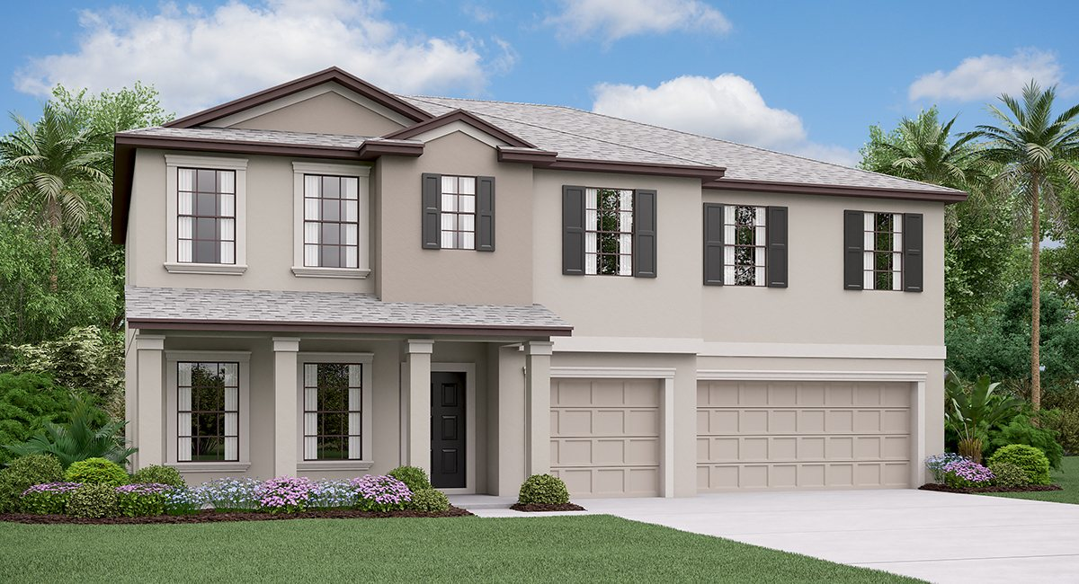 The Olympia Model Tour Spencer Creek Lennar Homes Ruskin Florida