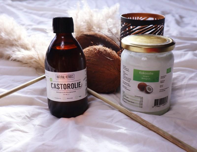 castorolie en kokosolie