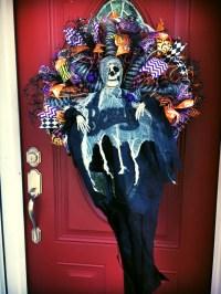 Halloween Wreath, Halloween Door Wreath, Halloween