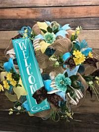 Spring Wreath, Summer Wreath, Welcome Wreath, Everyday ...