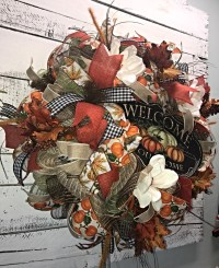 Fall Wreath, Fall Door Wreath, Large Fall Wreath for Front ...