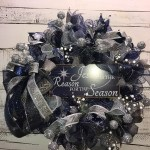 Christmas Wreath Holiday Wreath Blue And Silver Holiday Wreath Christmas Door Wreath Christmas Decor Home Decor Jesus Is The Reason For The