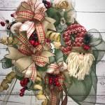 Winter Wreath Rustic Winter Wreath Santa Wreath Rustic Santa Wreath Winter Decor Holiday Wreath Christmas Wreath Home Decor Rustic Decor Door Wreath Winter Door Wreath Handmade Wreaths Wreaths For Sale Kim S