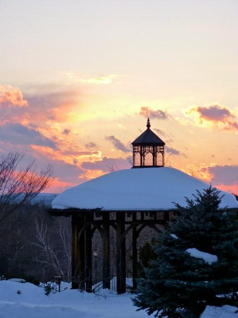 Sunset at Tower Gill Botanic Garden