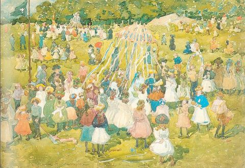 Maurice Prendergast May Day Central Park 1901