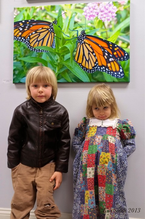 Atticus and Meadow butterfly GMG-Cape Ann Giclee ©Kim Smith 2013