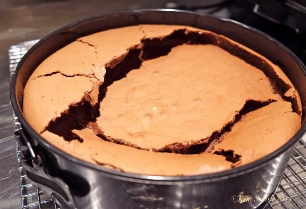 Flourless chocolate cake fallen ©Kim Smith 2014