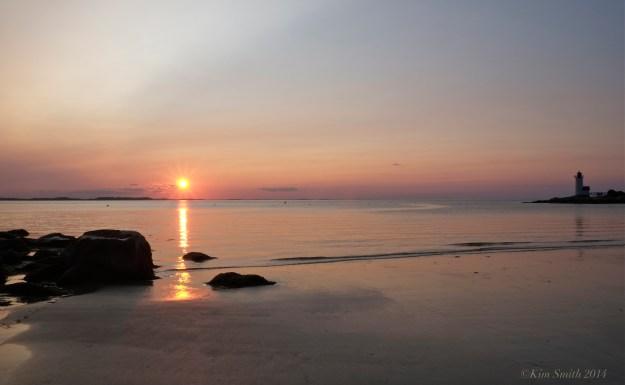 Lighthouse beach Sunset Annisquam Gloucester MA ©Kim Smith 2014