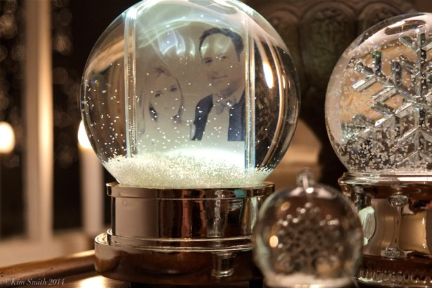 LIv and Matt snow globe Christmas ©KIm Smith 2014