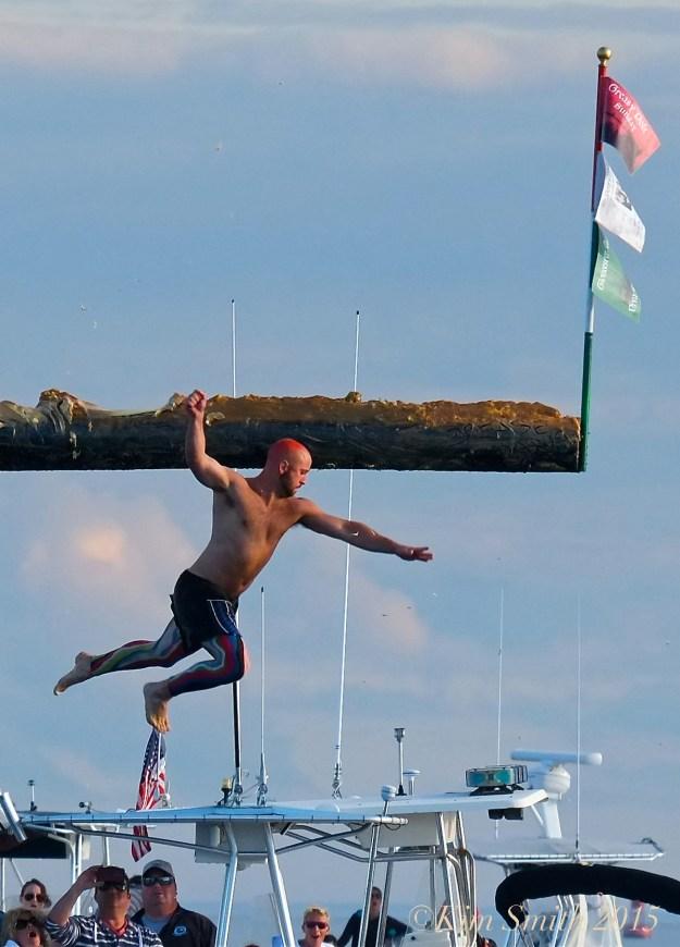 Ross Carlson Greasy Pole Gloucester ©Kim Smith 2015