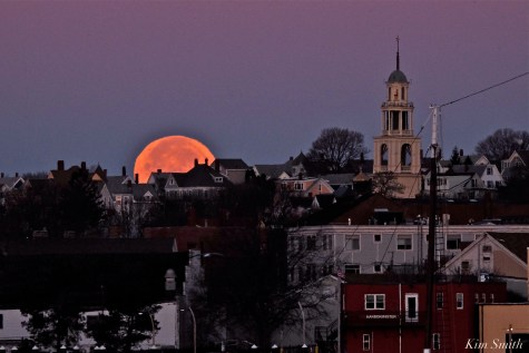 Full Moon Gloucester City Skyline November Frost Moon Beaver Moon -4 copyright Kim Smith