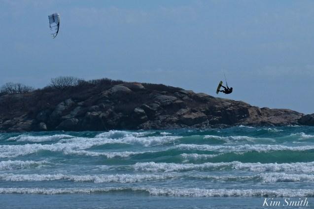 Kitesurfing Good Harbor Beach Gloucester copyright Kim Smith - 01