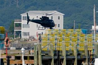 KRaken Fishing Boat Helicopter Filming Gloucester Harbor copyright Kim Smith - 05
