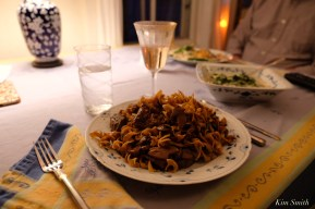 Allie's Beach Street Cafe beef stroganoff copyright Kim Smith