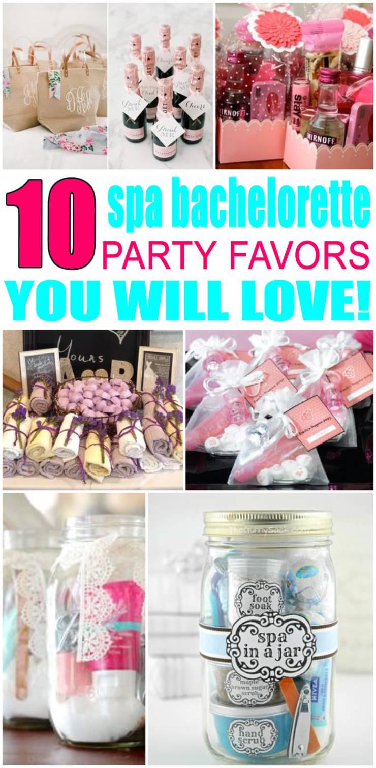 spa bachelorette party favors