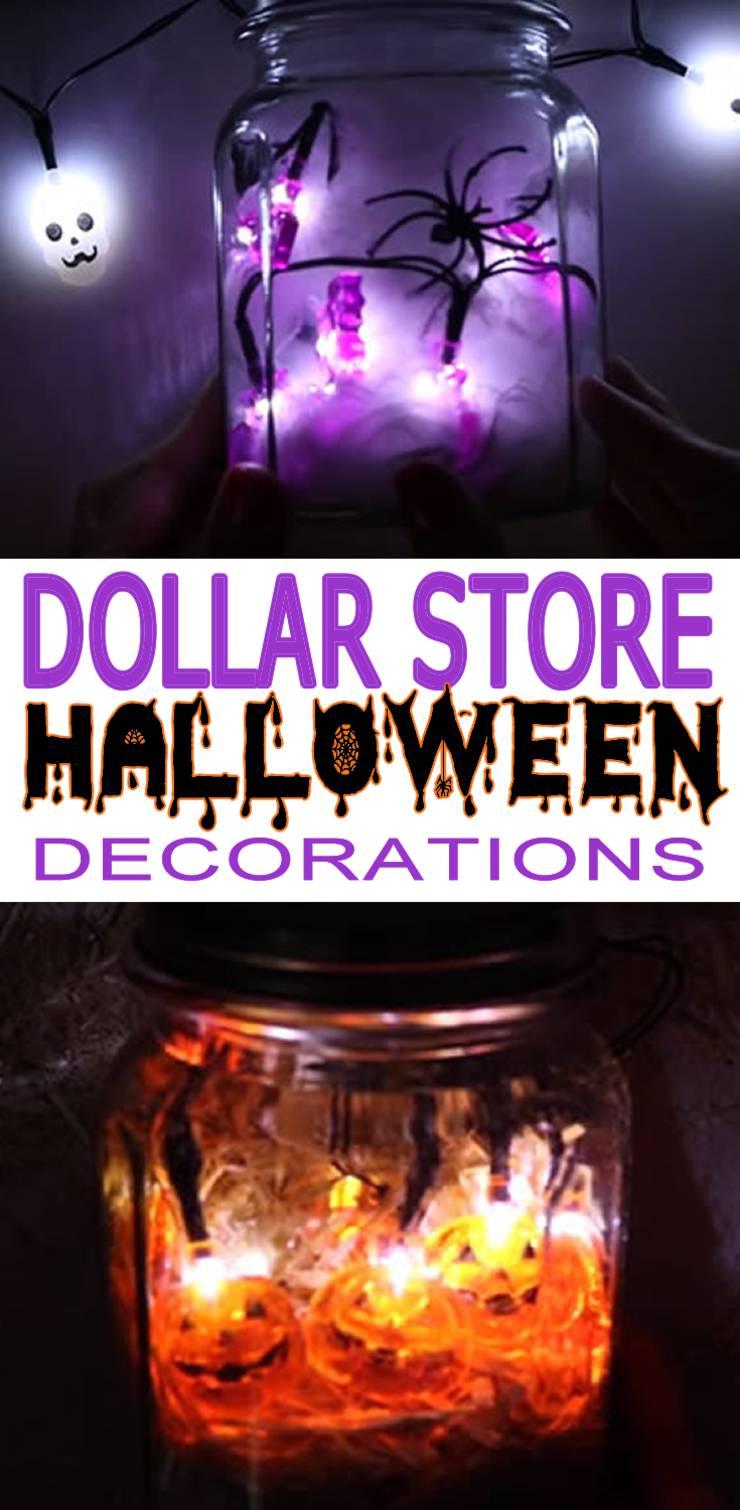 Dollar Store Halloween Decorations Easy Diy Scary Mason Jar Lights Simple Creepy Ideas Halloween