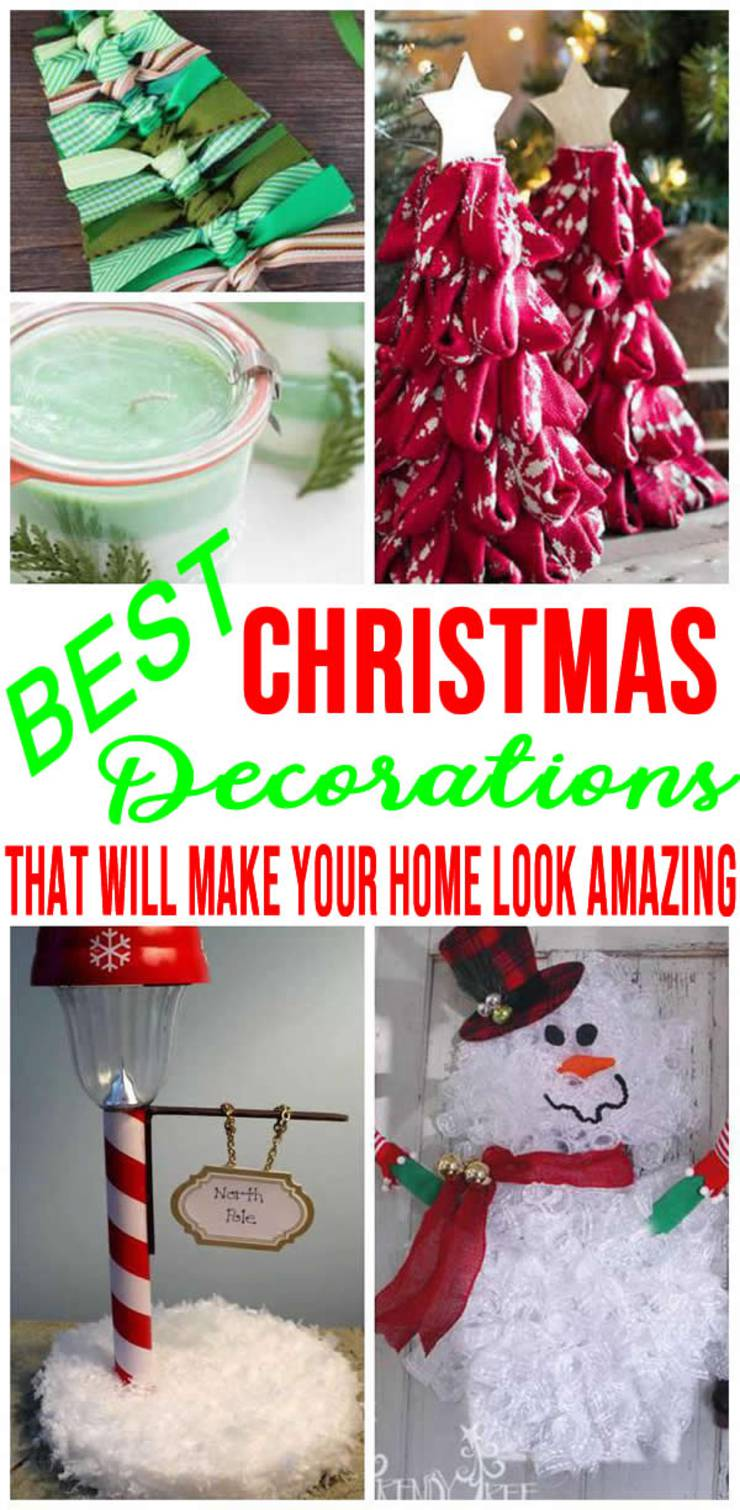 Best Christmas Decorations Diy Christmas Decoration Ideas Indoor Outdoor Easy Cheap For The Home Apartment