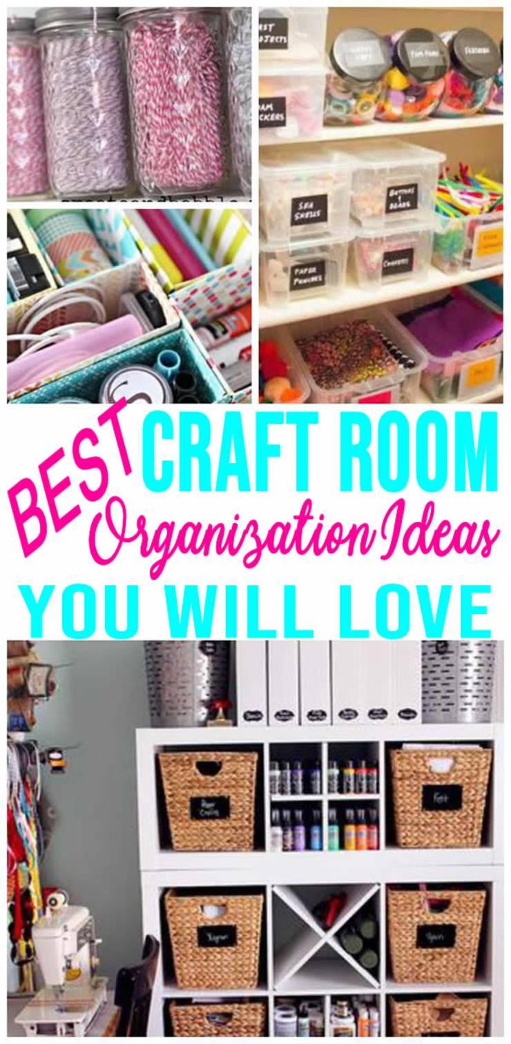 Best Craft Room Organization Easy Diy Ideas Hacks Storage On A Budget Closet Shelves Bins