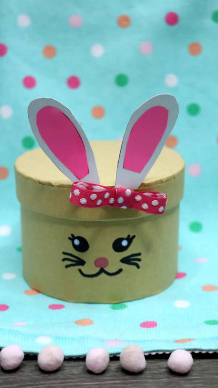Dollar Store Easter Decor Easy Diy Crafts How To Make Easter Bunny Box Simple Spring Decor