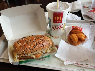 Yes. McDonald's is a thing in France and it's much classier than the McDonald's in the states.. check out my meal!