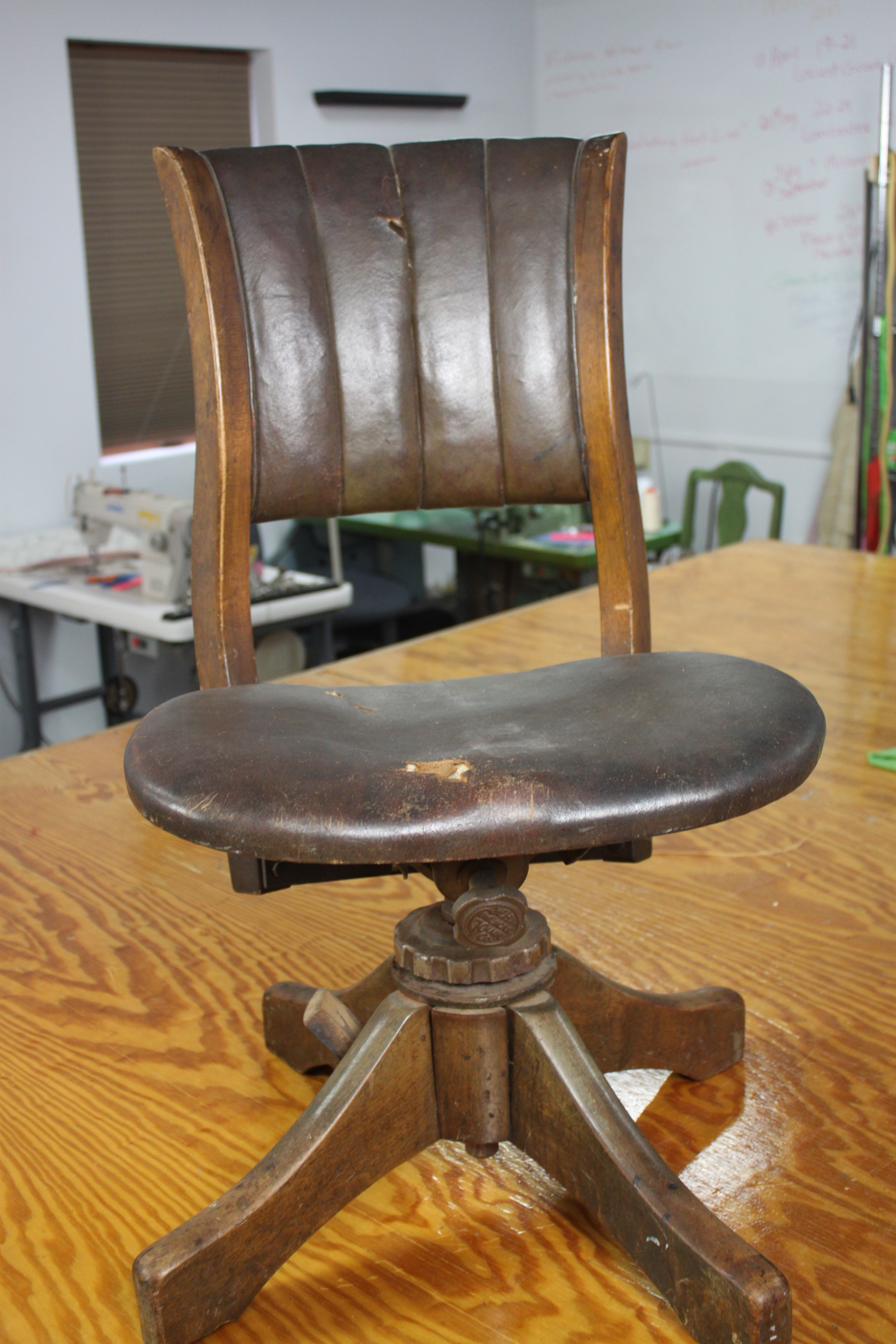 Reupholster Office Chair Reupholster An Antique Office Chair Trash Or Treasure