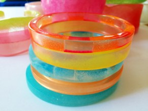 Set of Festive Resin Bangles By Kim Taitano