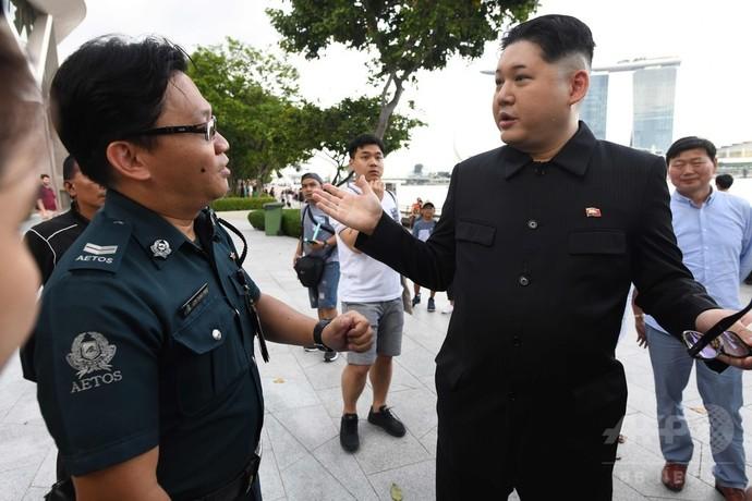 싱가포르 김정은 경호 북미정상회담 개최 싱가포르에 김정은 닮은꼴 등장