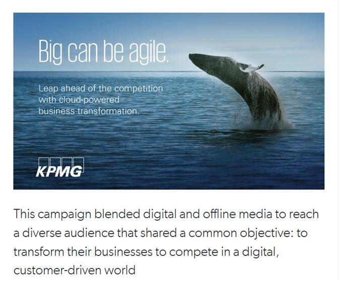 Accountancy marketing case study - How KPMG influenced £35 million in new business by blending digital and offline media