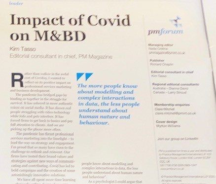 Impact of Covid on marketing and business development